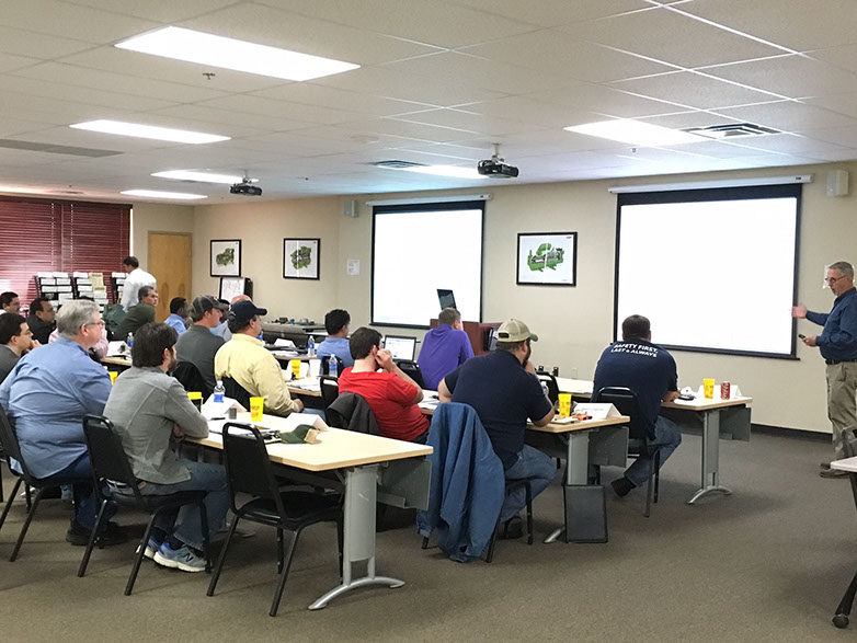 BITZER US employees at an internal training course