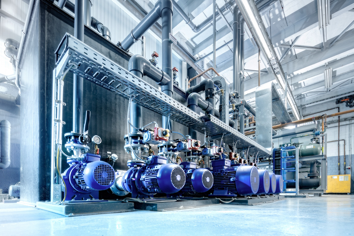 The refrigeration system's pumps are speed-controlled and therefore energy-efficient