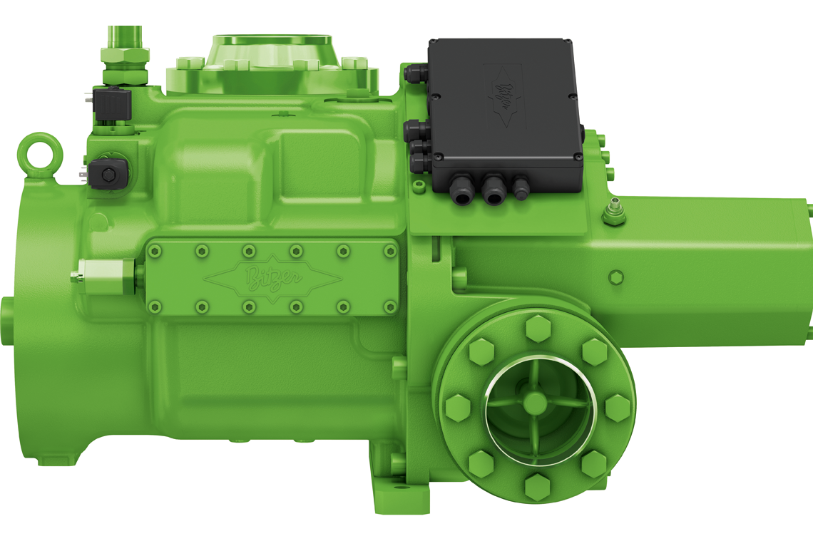 OS.A95 screw compressors can be operated with the low-GWP refrigerant ammonia