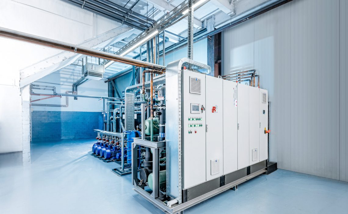 The new refrigeration system at the Mersch Kettler plant appears tidy and grandiose