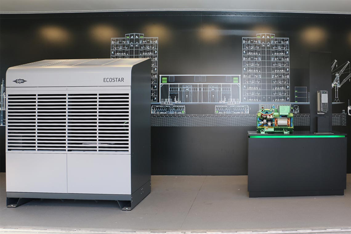 The ECOSTAR condensing unit was literally the star of the roadshow