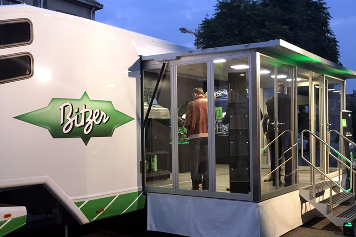The mobile BITZER showroom
