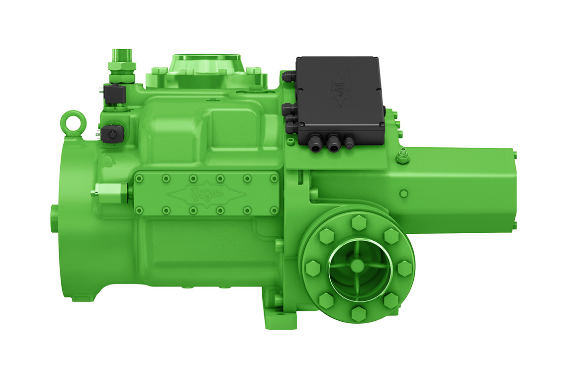 The BITZER OS.A95 screw compressors with low-GWP refrigerant ammonia