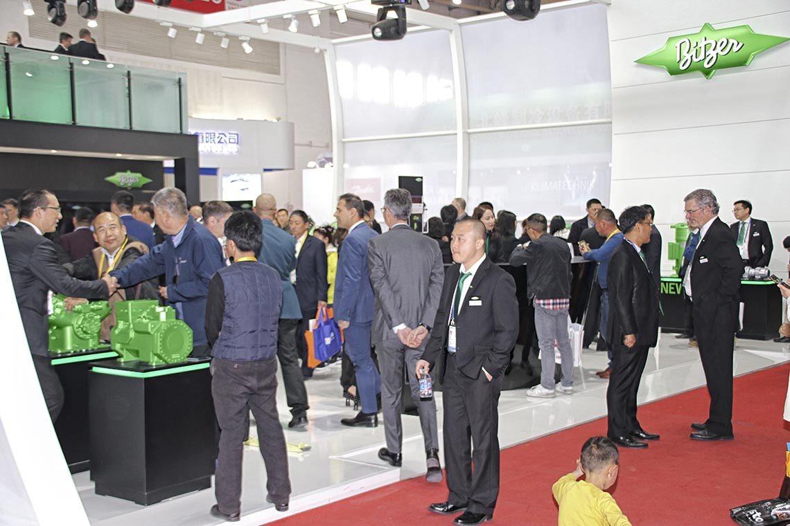 BITZER compressors attracted quite a crowd at China Refrigeration 2018