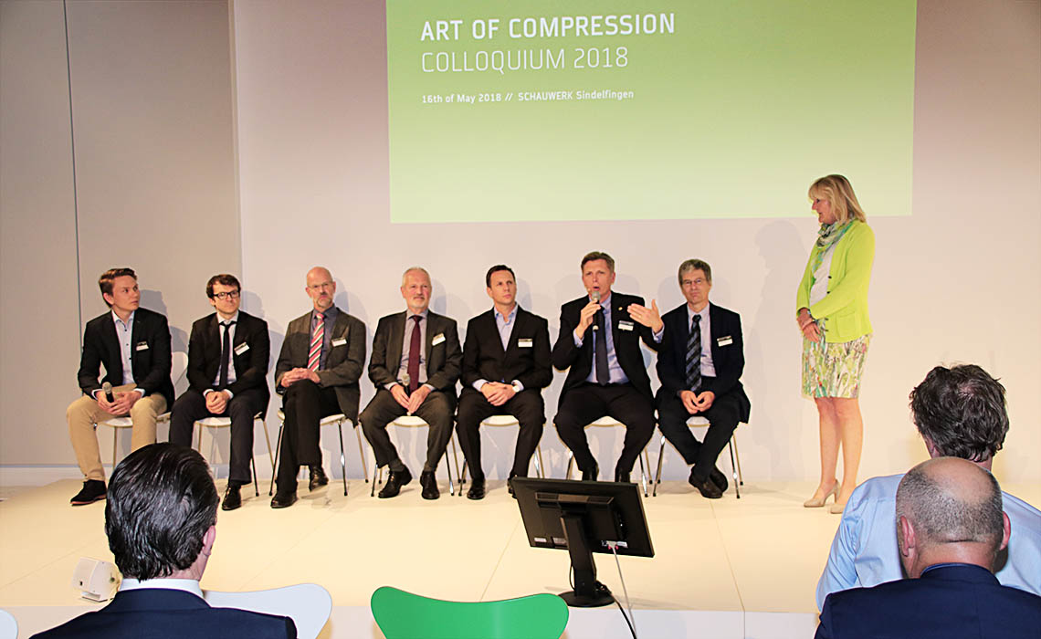 Die Redner des internationalen Art of Compression Kolloquiums im SCHAUWERK Sindelfingen