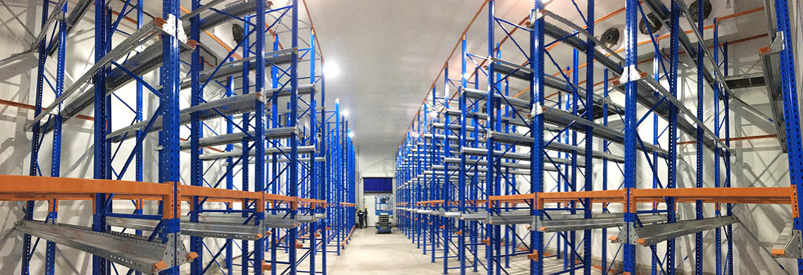 A large warehouse in Sri Lanka with many shelves yet to be filled