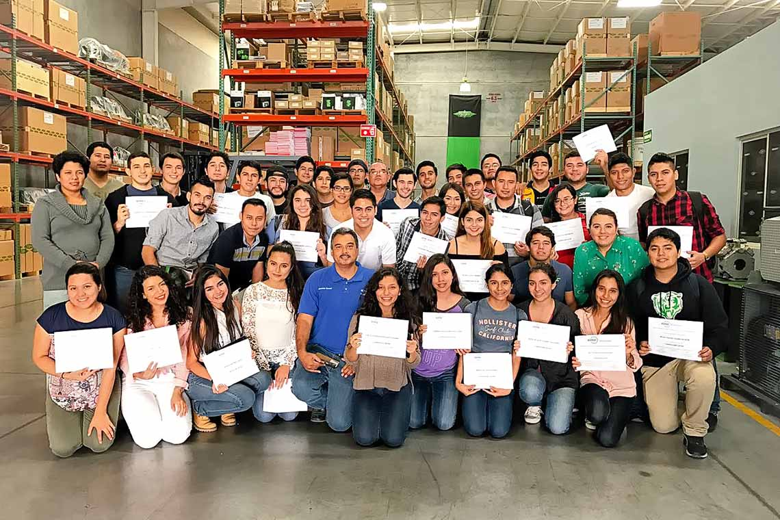 Mexican students with their record of participation. A total of 75 students participated in the BITZER refrigeration training organised by ASHRAE in 2017