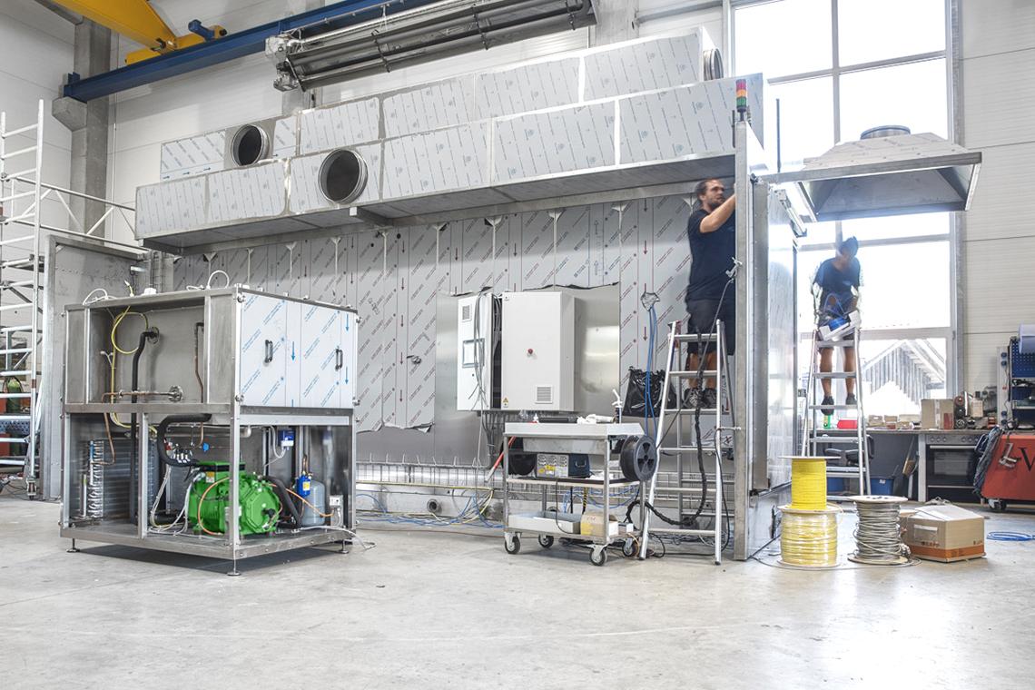 Blick in die Produktionshalle von Harter