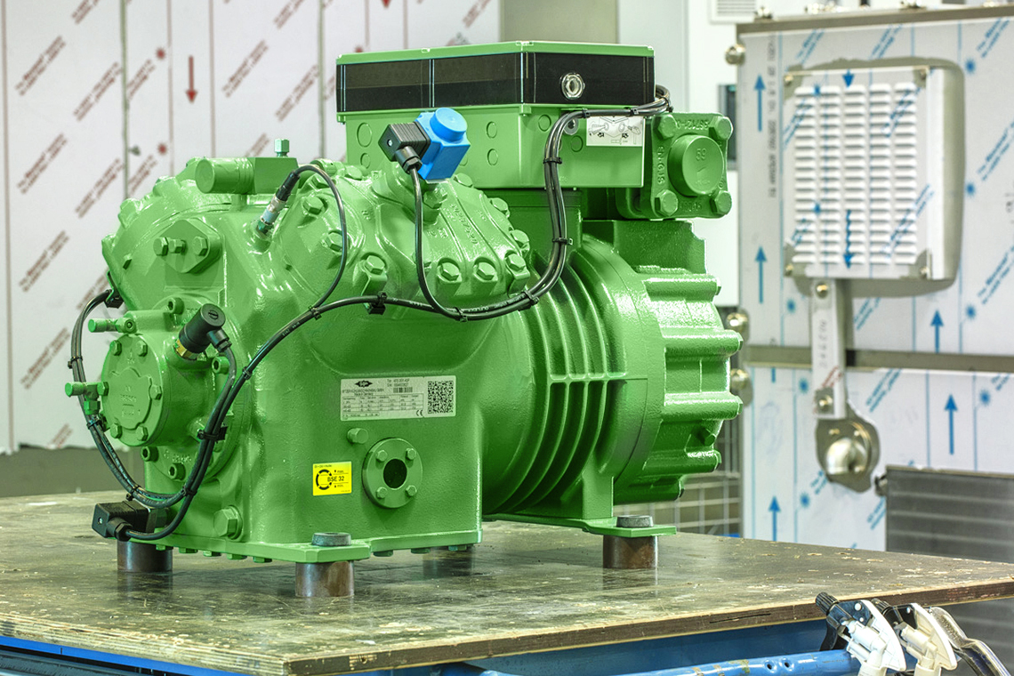 BITZER reciprocating compressor at Harter