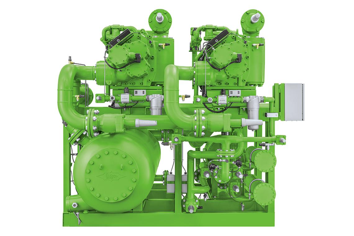 Grünes BITZER Ammonia Compressor Pack mit Verdichter und weiteren