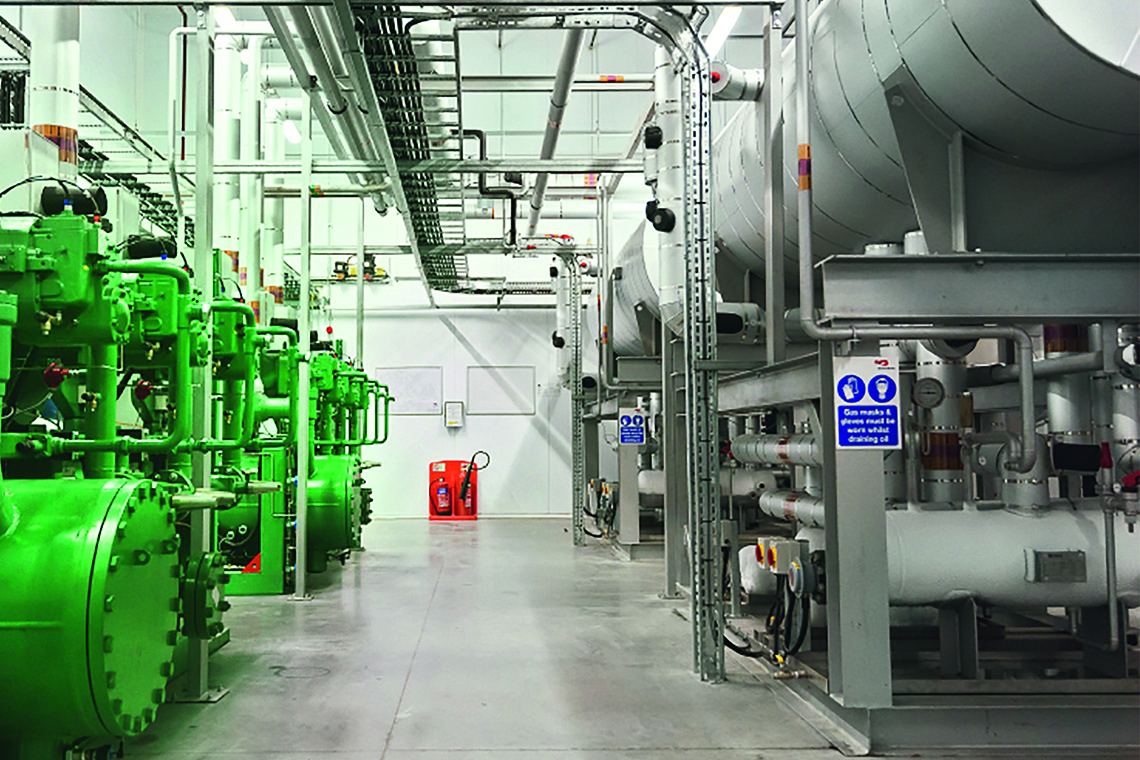 The three powerful BITZER screw compressors per ACP unit maintain cooling capacity at all times – around the clock, 365 days a year