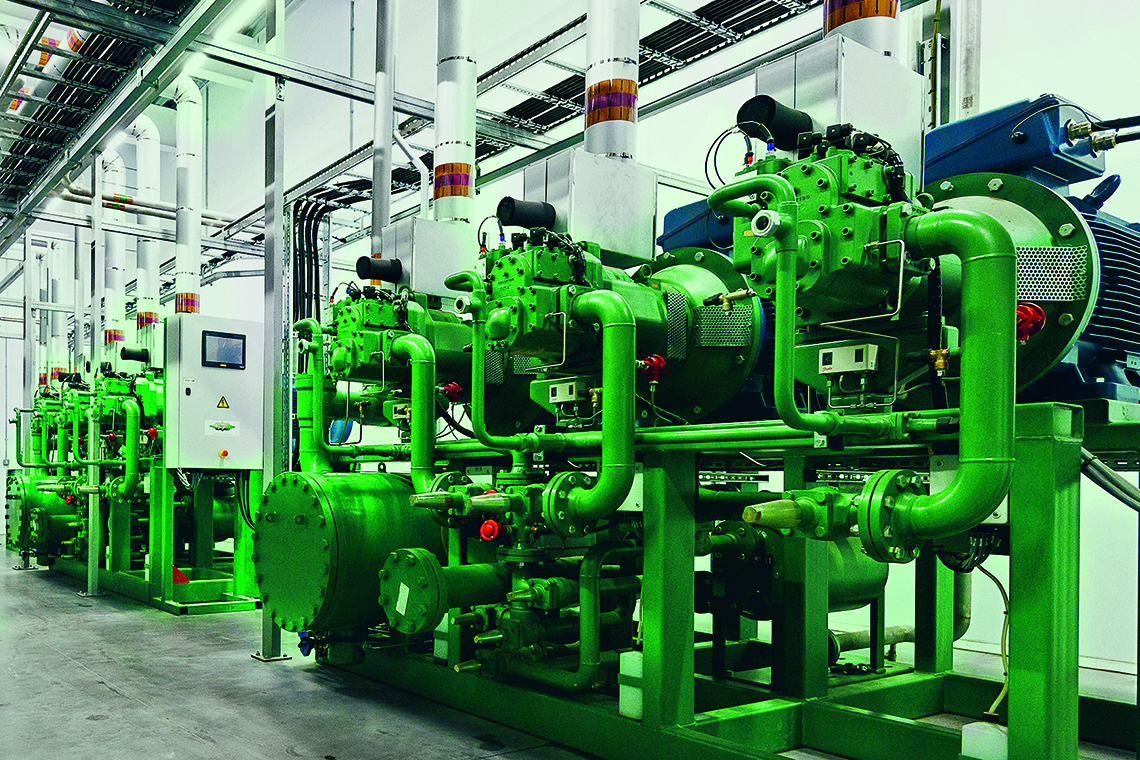BITZER ACPs and screw compressors for ammonia applications offer maximum efficiency and reliability at the pizza production facility