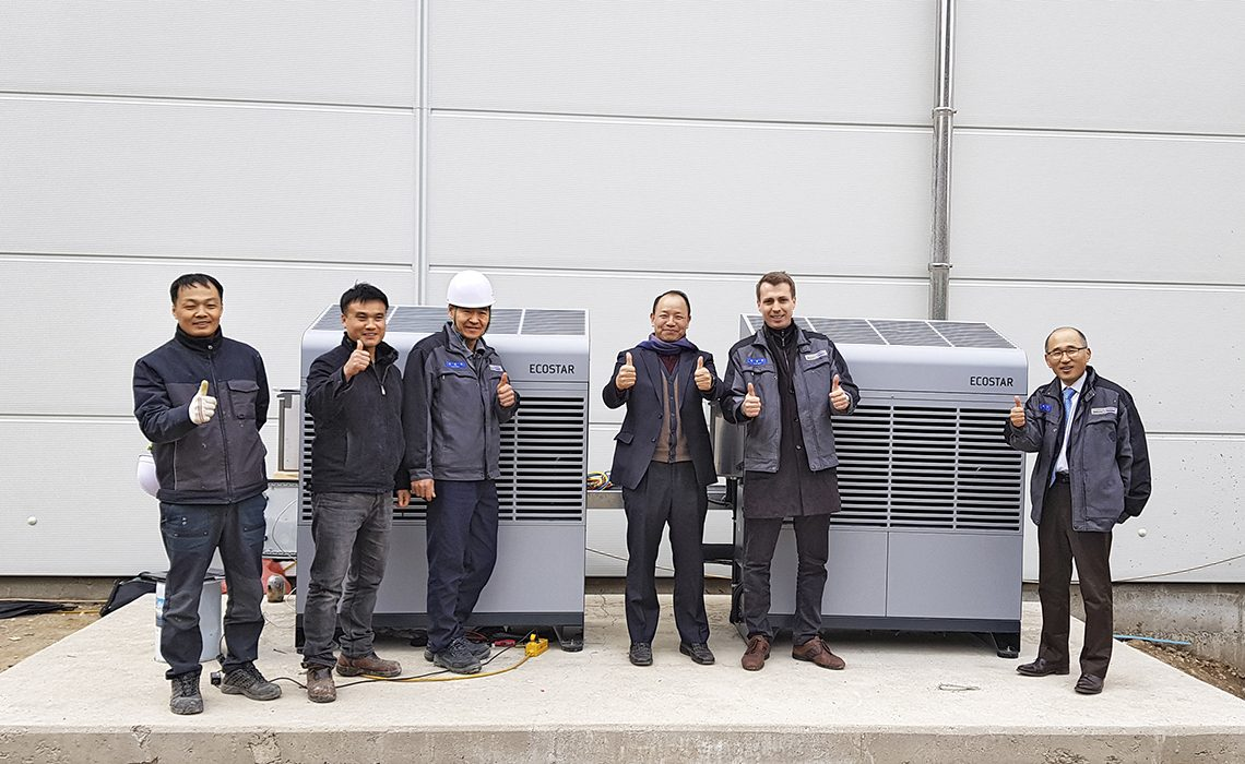 ECOSTAR condensing units at Pulmuone Danone