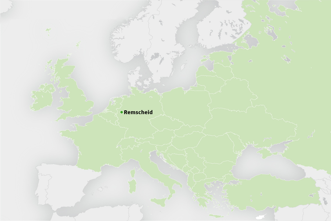 Strong network in Europe: the Wurm Group serves customers throughout Europe from its headquarters in Remscheid, Germany