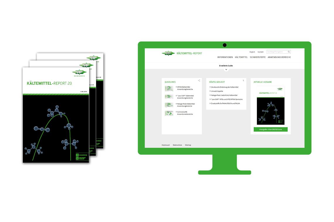 Immer zuverlässig und kompetent über Kältemittel informiert: Den BITZER Kältemittel-Report gibt es als Druckschrift, PDF und in digitaler Version