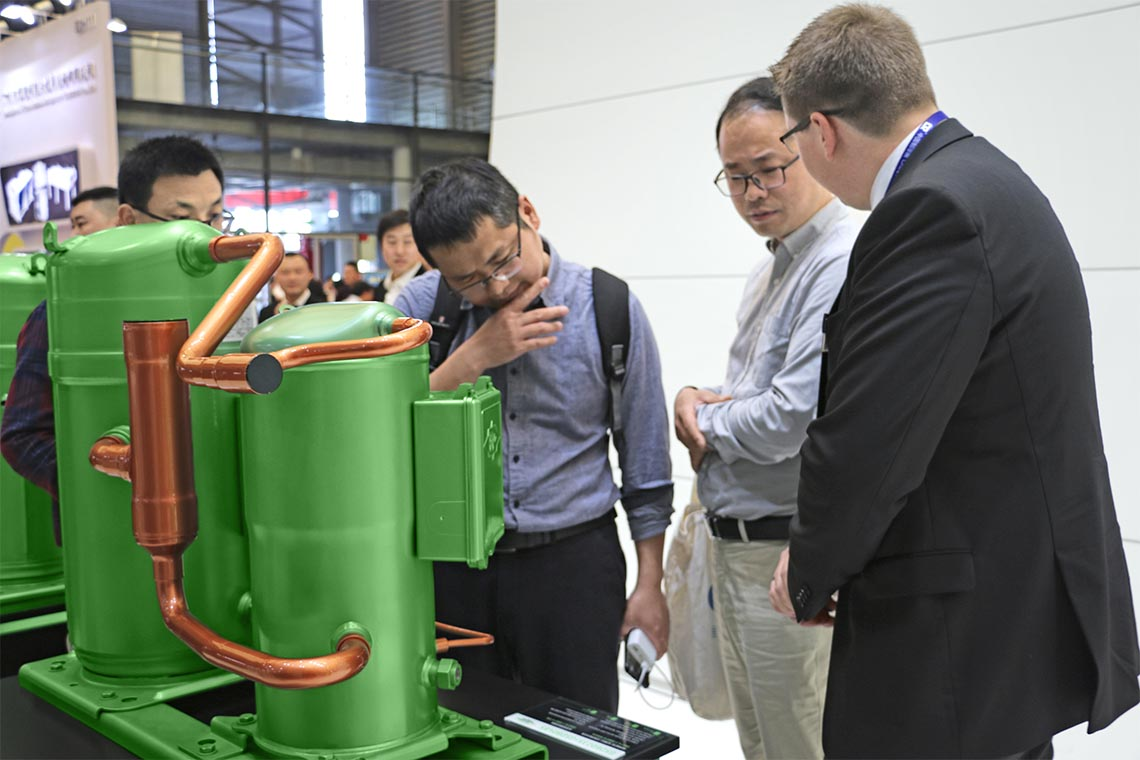 ORBIT scroll compressors were one of the BITZER trade fair highlights in Shanghai