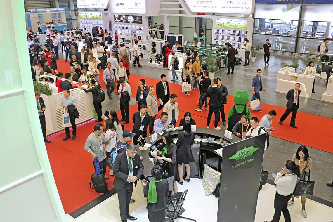 Always well attended: the BITZER booth information at the China Refrigeration 2019