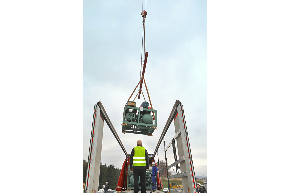 A 220-tonne crane lifted ACPs to a height of 20 metres and placed them inside the installation room