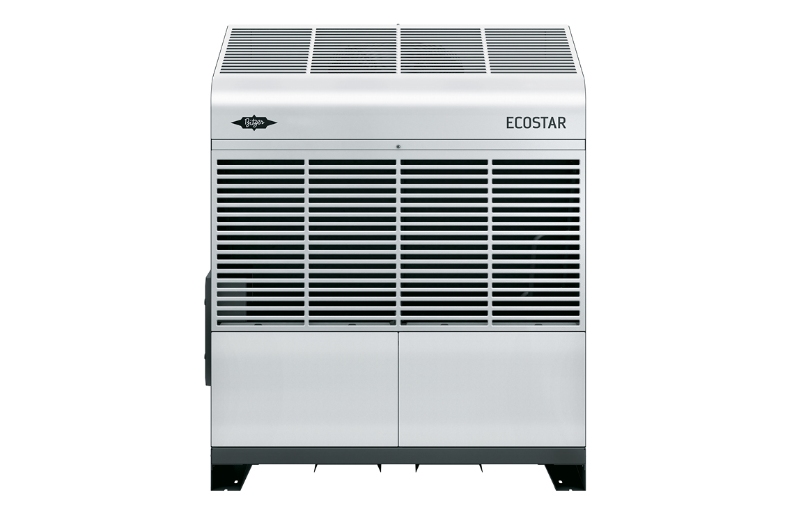 ECOSTAR features an ECOLINE VARISPEED reciprocating compressor integrated as standard, optimised mini-channel condensers and modern EC fans