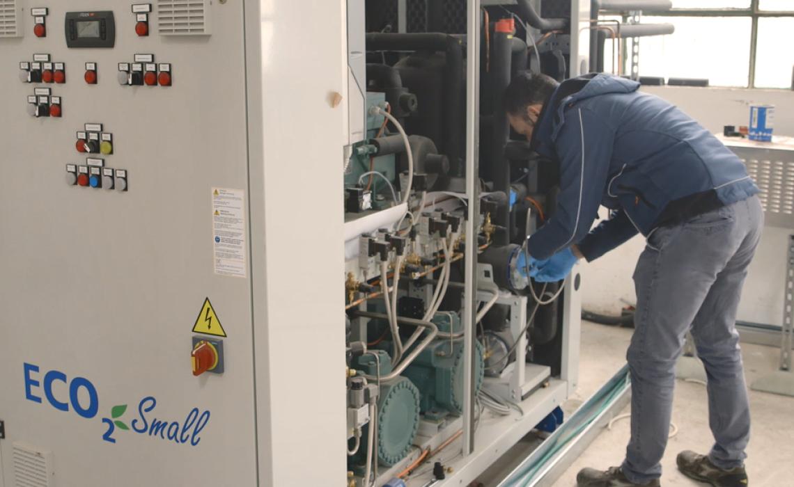 Kälteanlage mit BITZER Hubkolbenverdichtern für CO2-Anwendungen