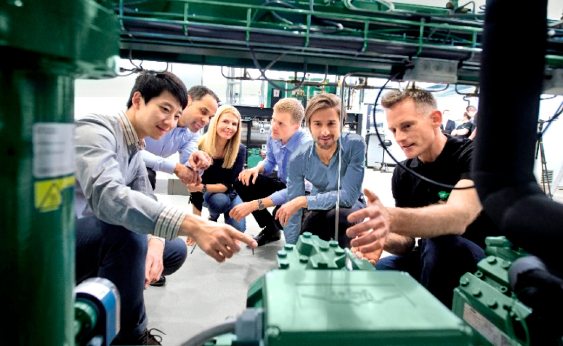 BITZER trainings take place in the SCHAUFLER Academy at fully functional facilities