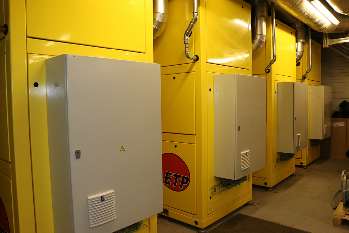 The ETP experts installed four high-temperature heat pumps at Maastricht UMC+
