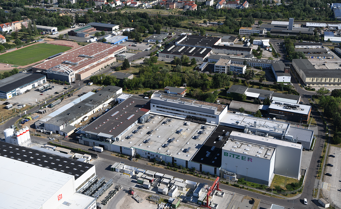 Der größte Produktionsbetrieb des Landkreises Nordsachsen: BITZER Schkeuditz