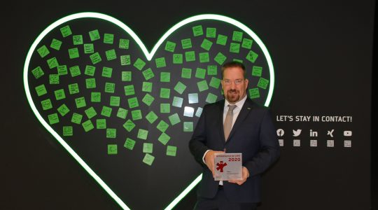 Andreas Riesch, Director of Sales Germany and Switzerland at BITZER, gladly accepted the award