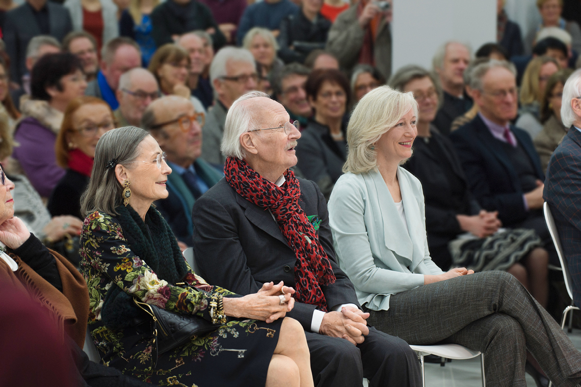 Peter Schaufler, Christina Schaufler-Münch and Barbarrage at the opening ceremony of VENUSFALLE