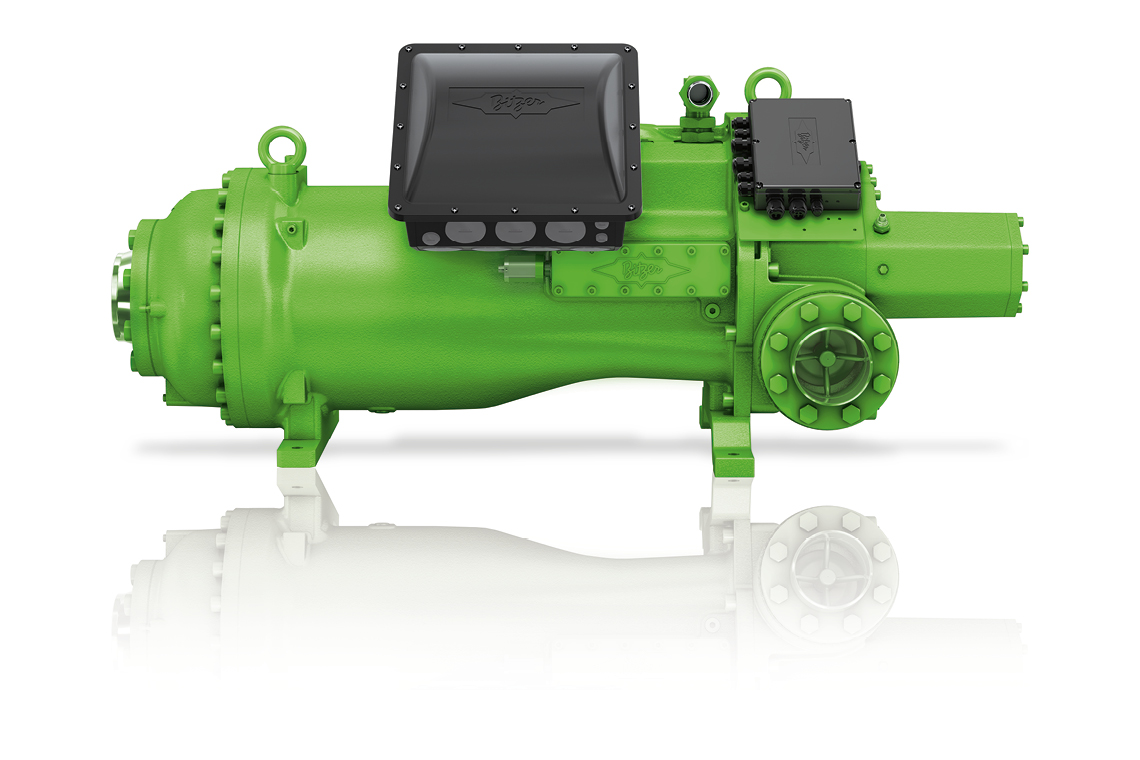 Designed for operation with low-GWP refrigerants: BITZER HS.95 screw compressors