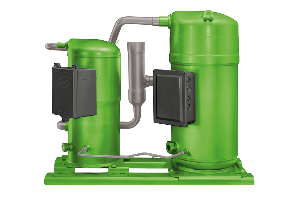 Also available as a tandem with BAHT, a real refrigerant all-rounder – ORBIT scroll compressor