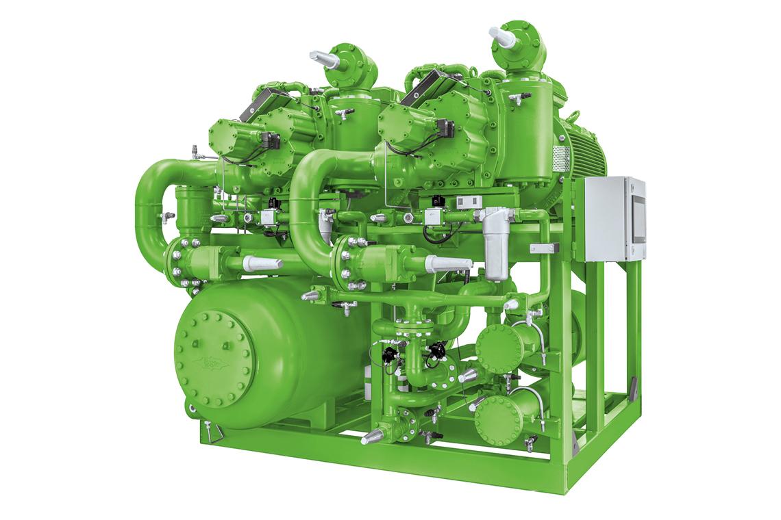 Green BITZER Ammonia Compressor Pack (ACP)