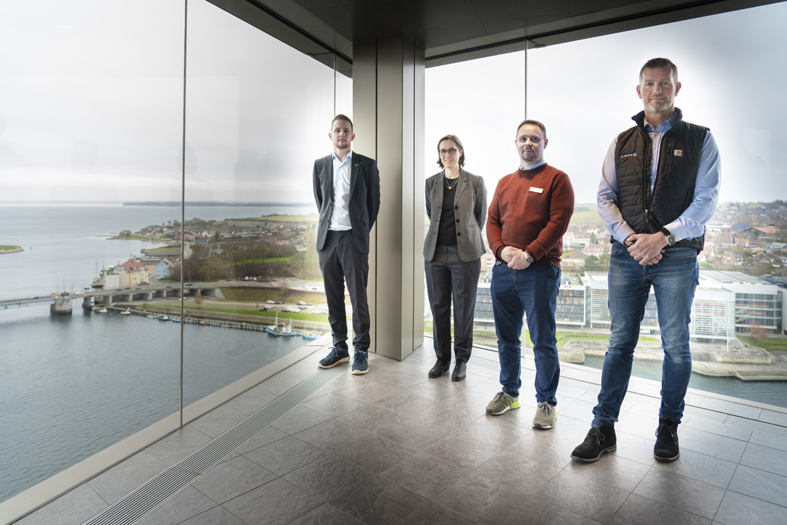 Jesper Johansen, Technical Sales Engineer at BITZER Nordic, Marie Girard, International Sales & Marketing Coordinator at BITZER Nordic, Michael Kurth, Facility Manager at Hotel Alsik and Jørgen Ludvigsen, Sales Manager at Climate A/S